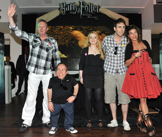 Mark Williams, Warwick Davis, Evanna Lynch, Matthew Lewis and Natalia Tena