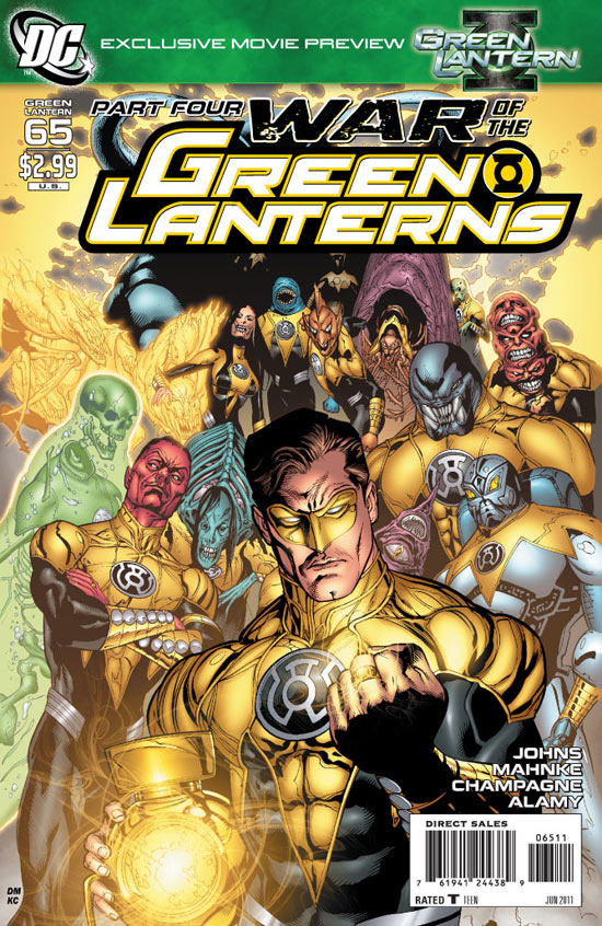 Green Lantern #65 War of the Green Lanterns Part 4