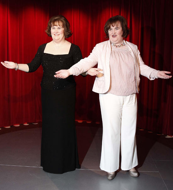 Susan Boyle and her wax work
