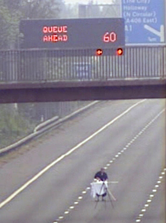 Man Ironing on the M1