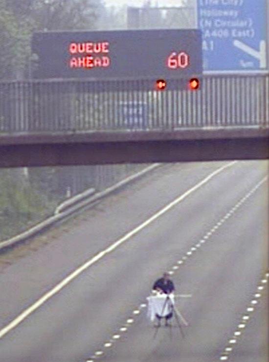 Man Ironing on the M1