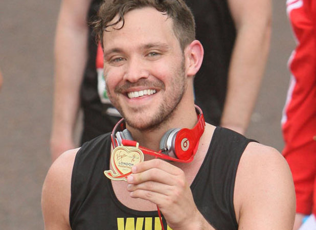 Will Young at the 2011 London Marathon