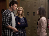 Glee S02E17 'Night of Neglect': Finn and Quinn ask Rachel for her help.