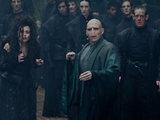 Jason Isaacs (Lucius Malfoy), Helena Bonham Carter (Bellatrix Lestrange) and Ralph Fiennes (Lord Voldemort).