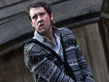 Neville Longbottom (Matthew Lewis) prepares for action. 