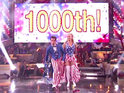 Kendra Wilkinson performs the 1,000th competitive dance on Dancing with the Stars.