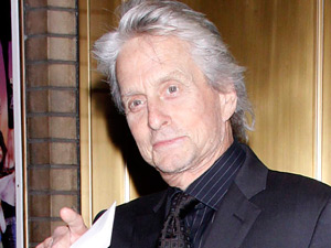 Michael Douglas arriving at the opening night of the Broadway production of 'High'