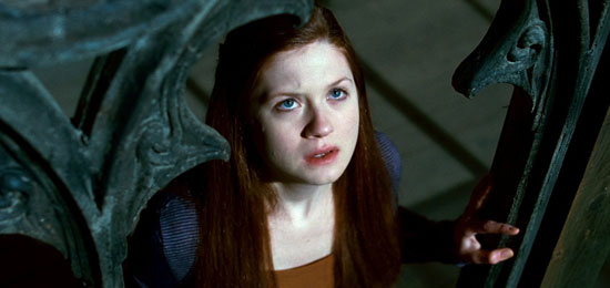 harry potter and deathly hallows ginny. Ginny Weasley stares up to the