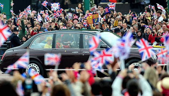 Queen Elizabeth II leaves Buckingham Palace