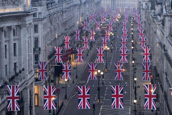 Bunting along Regent Street
