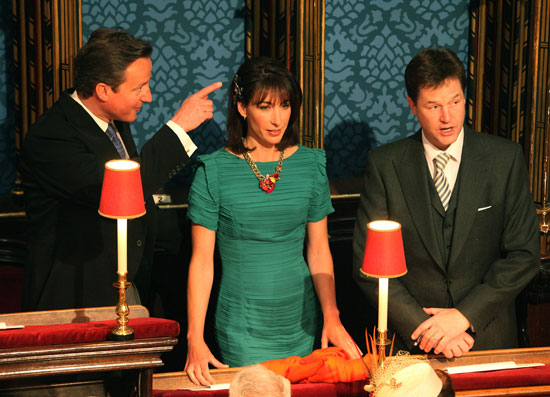 david cameron royal wedding. David Cameron and Nick Clegg