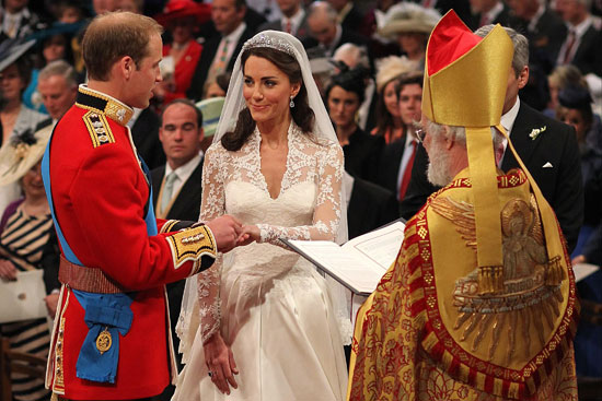 Royal couple exchange vows