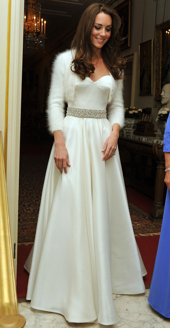 Kate Middleton leaves Clarence House wearing new evening wear
