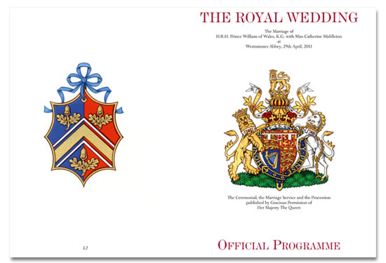 Royal Wedding Programme