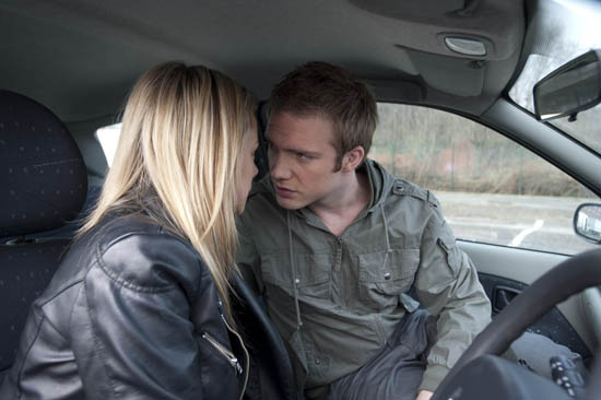 Tommy Duckworth (Chris Fountain) and Sian Powers (Sacha Parkinson)