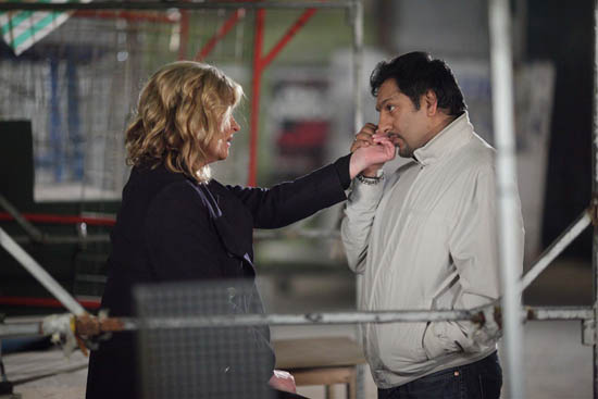 Jane Beale (Laurie Brett) and Masood Ahmed (Nitin Ganatra)