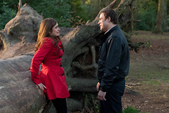 Mitzeee Minniver (Rachel Shenton) with Warren Fox (Jamie Lomas)