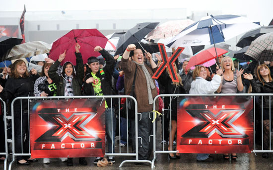 Crowd in attendance at the Chicago auditions of The X-Factor