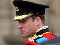 Prince William arriving at Westminster Abbey