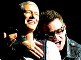 Bono and Adam Clayton from U2