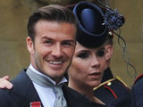 David and Victoria Beckham arrive at Westminster Abbey