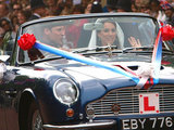 Prince William and Kate in the Aston Martin