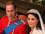 Prince William and Kate during their ceremony