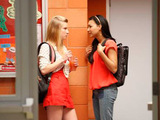 Glee S02E19: Santana comforts Brittany