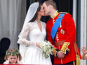 "Prince William comments on the ""terrified"" bridesmaid seen during his balcony kiss with Kate Middleton."