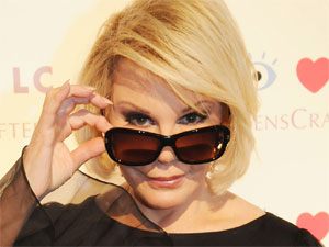 Joan Rivers is the guest of honour at an event hosted by eyewear manufacturers 'Lenscrafters', New York City