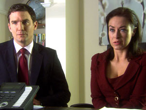 Daniel (Matthew Chambers) and Zara (Elisabeth Dermot Walsh)