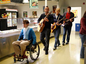 Glee S02E19: Artie, Puck, Sam and Finn perform