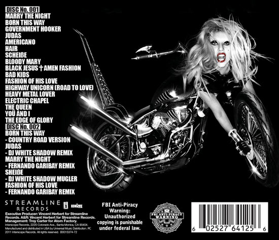 lady gaga born this way special edition disc 1. Lady Gaga #39;Born This Way#39;