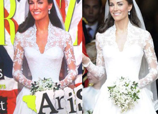 Kate Middleton slimmed down in Grazia