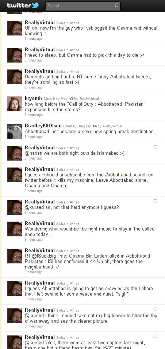 Sohaib Athar twitter screengrab