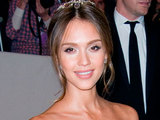 Jessica Alba at the Alexander McQueen &#39;Savage Beauty&#39; Costume Institute Gala
