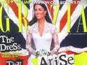 Kate Middleton's wedding photo seems to have been altered to make her slimmer in Grazia magazine.