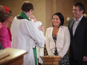 Tommy's christening day arrives, Corrie's Sean has a blind date and Nicola gets desperate in E'dale.