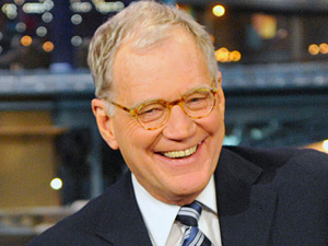David Letterman presenting the 'Late Show'