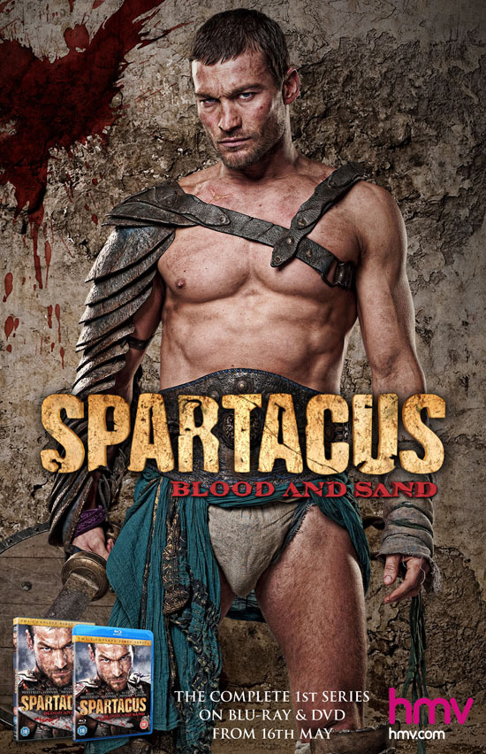 Andy Whitfield in the banned Spartacus poster