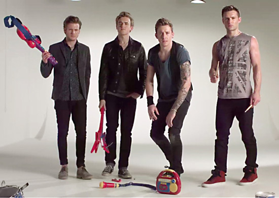 Harry Judd with McFly