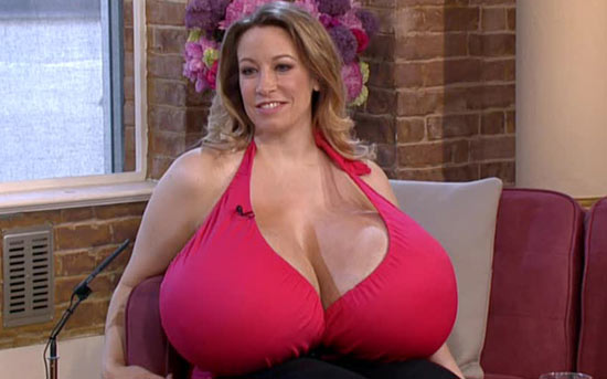 Woman with 164XXX-sized breasts