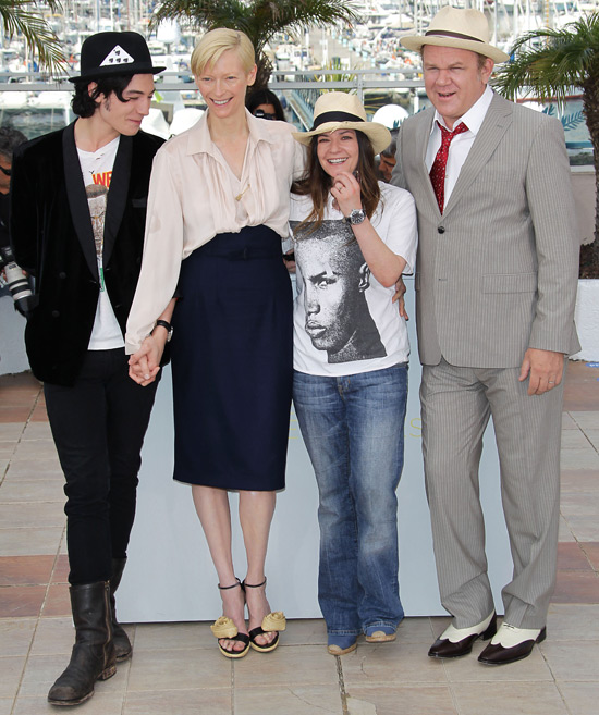 Ezra Miller, Tilda Swinton, director Lynne Ramsay and John C. Reilly
