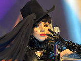 Lady Gaga performing on The Graham Norton Show