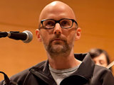 Moby performing an unplugged set of new tracks in New York