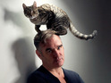 Morrissey wouldn't be seen dead wearing cat fur - unless the cat is still alive!