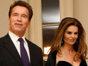 Arnold Schwarzenegger and Maria Shriver both attend a dinner for a longtime family friend in Brentwood.