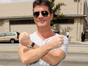 Simon Cowell arrives for The X Factor USA