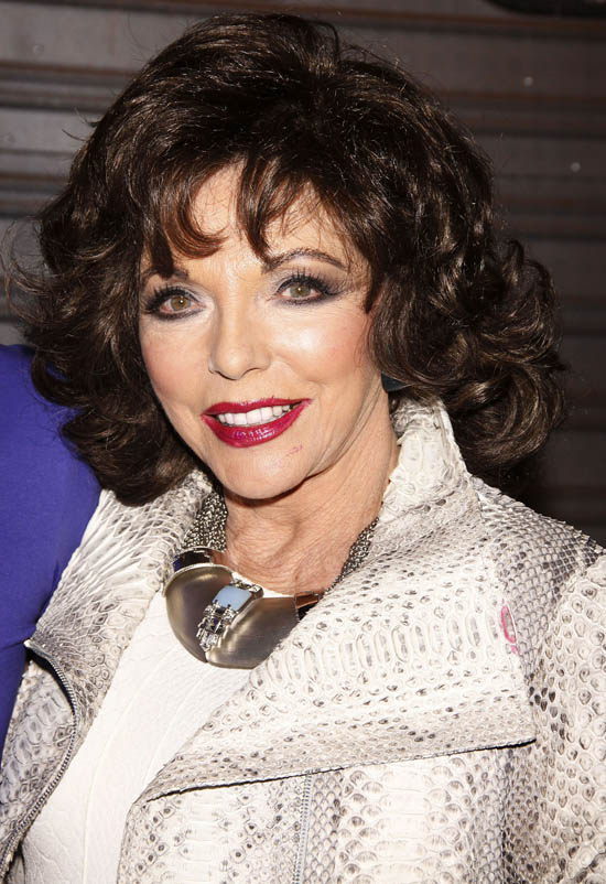 Joan Collins - The actress and Dynasty star is 78 today.