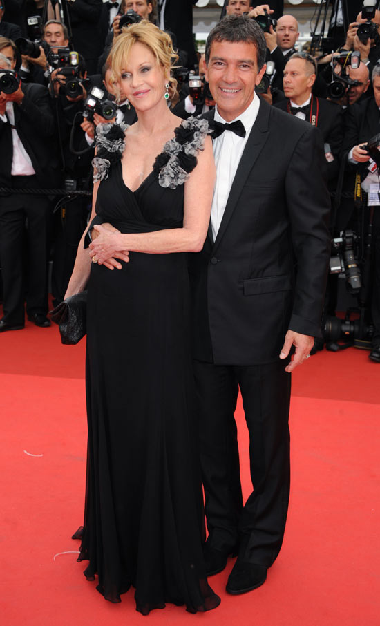Melanie Griffiths and Antonio Banderas in Cannes